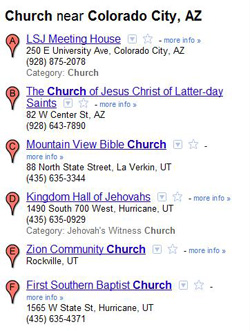 Search Engine Optimization - Colorado City Results